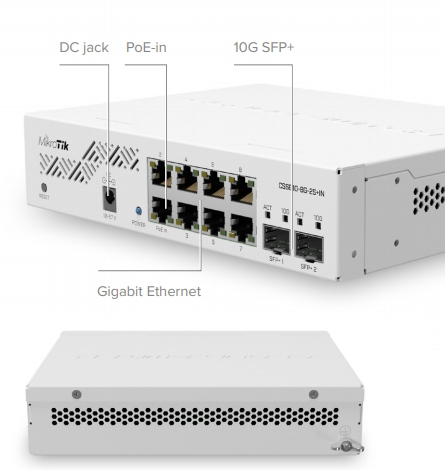 MikroTik switch: CSS610-8G-2S+IN